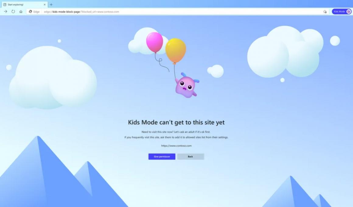 Microsoft Edge Çocuk Modu